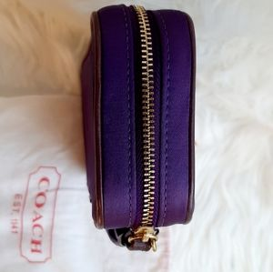 Coach Bags - COACH NWT! Purple Satin and leather jewelry pouch
